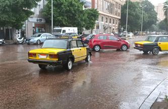 هطول أمطار متوسطة على الإسكندرية وانخفاض كبير في درجات الحرارة  صور