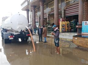 حصر أماكن تجمعات الأمطار وغرف عمليات لمتابعة الطقس بالدقهلية