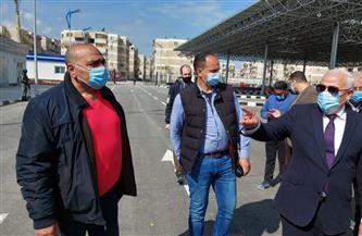 محافظ بورسعيد يتفقد أعمال إنشاء الميناء البري الجديد استعدادا لبدء التشغيل | صور