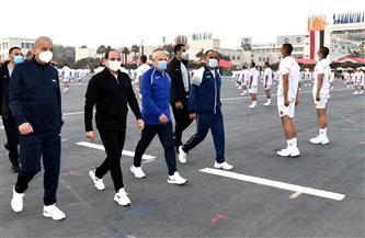 موقع الرئاسة ينشر فيديو لزيارة الرئيس السيسي الكلية الحربية