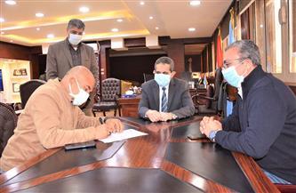 توقيع عقد إنشاء كوبري مشاة كهربائي فى شارع البحر بطنطا |صور