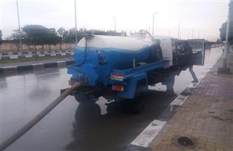 انتشار سيارات الكسح في شوارع وميادين محافظات القناة |صور