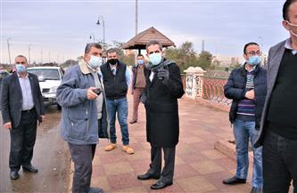 محافظ الغربية يتفقد أعمال رفع تجمعات مياه الأمطار بشوارع طنطا |صور