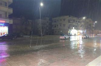 أمطار رعدية تضرب شمال سيناء |صور وفيديو