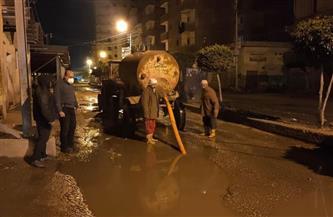 تواصل عمليات شفط مياه الأمطار من شوارع مدن وقرى كفرالشيخ | صور