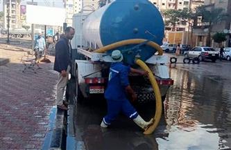 رئيس شركة المياه بالدقهلية يوجه بسرعة سحب التراكمات الكبيرة لمياه الأمطار| صور