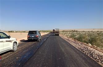 الانتهاء من رصف ٨٥ % من طريق واحة الجارة بتكلفة ١٢٦.٥ مليون جنيه |صور