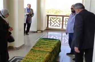وزيرة الثقافة في جنازة العلايلي: أفنى حياته لتقديم رسالة عظيمة لجمهوره