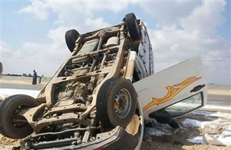 إصابة 13 عاملا بجروح مختلفة في حادث انقلاب سيارة بالشرقية