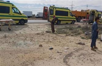 مصرع شاب وإصابة 3 آخرين في حادث انقلاب سيارة بطريق مرسى علم