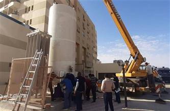«عزل أسوان»: توفير خزان أكسجين بسعة 11 ألف لتر مكعب