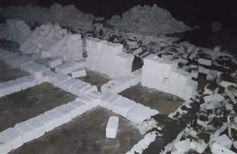 إزالة 8 مقابر دون ترخيص شرق الإسكندرية | صور