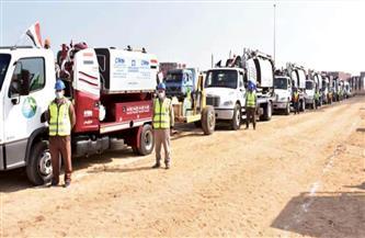 محافظ الشرقية يشهد اصطفاف المعدات الهندسية المشاركة في تطوير قرى الحسينية | صور