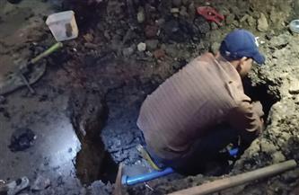 حي دار السلام يستجيب لبلاغ بوجود هبوط أرضي في شارع مصر حلوان ويصلح كسر ماسورة مياه