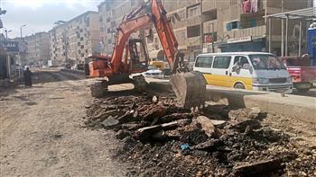 محافظ كفرالشيخ يتابع بدء أعمال الرصف بمدخل قرية كفر المرابعين | صور