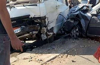 إصابة 7 أشخاص في حادث تصادم بالطريق الزراعي بأسوان