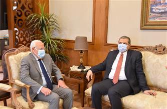محافظ بورسعيد يستقبل وزير القوى العاملة بالديوان العام | صور