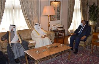 وزير الخارجية يبحث تعزيز مجمل العلاقات الثنائية مع الأمين العام لمجلس التعاون لدول الخليج | صور