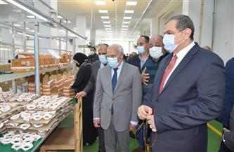 وزير القوى العاملة والغضبان يتفقدان مصنعا للأدوات الكهربائية ببورسعيد | صور