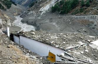 قتل 9 أشخاص وبقاء عشرات مفقودين جراء فيضانات بعد انهيار نهر جليدي بالهند