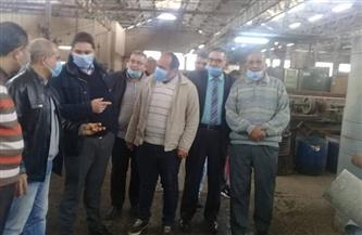 رئيس غزل المحلة يتفقد المصانع ويحث العمال على رفع كفاءة الإنتاج | صور