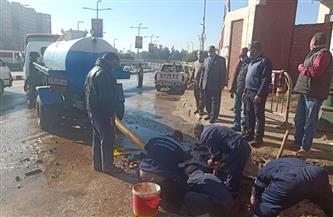 محافظ أسيوط يكلف السكرتير المساعد بمتابعة أعمال إصلاح ماسورة مياه بنفق الأزهر | صور
