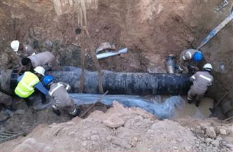 """إصلاح كسر بماسورة مياه رئيسية بـ""""القباري"""" غرب الإسكندرية"""