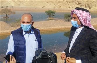 وزير الري يكشف حجم مياه السيول المختزنة بمنشآت الحماية في طابا جراء العاصفة المطرية الأخيرة| صور