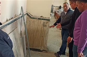 عميد آداب طنطا يتفقد أعمال التطوير والإنشاءات الجديدة بالكلية