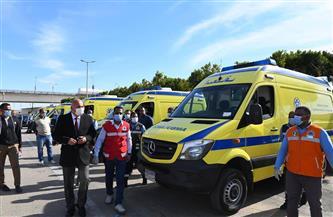 دعم قنا بسيارات إسعاف جديدة وعربات دفع رباعي لمواجهة السيول | صور