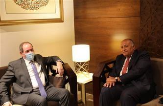 وزير الخارجية يناقش مع نظيره الجزائرى سُبل تعزيز العلاقات الثنائية| صور