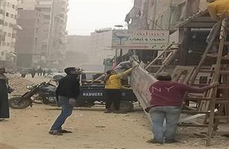 """حي شرق مدينة نصر يستكمل إزالات مدينة """"الأمل"""" لتنفيذ محور شينزو آبي"""
