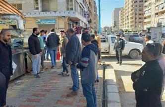 مدينة مطروح: حملة لإزالة إشغالات الطريق بشوارع وسط المدينة   صور