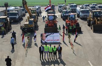 محافظ كفر الشيخ يتفقد اصطفاف المعدات المشاركة في تطوير 18 قرية بمركز مطوبس | صور