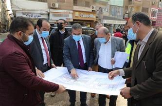 محافظ المنوفية يتفقد أعمال التطوير بعدد من المناطق غير المخططة بشبين الكوم   صور