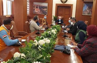 """محافظ بورسعيد يبحث آخر مستجدات معدلات الإصابة بـ""""كورونا"""".. ويطالب بأكبر كمية من الأكسجين  صور"""