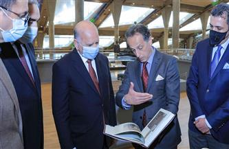 وزير خارجية العراق: زيارة مكتبة الإسكندرية بمثابة دخول للتاريخ والثقافة والحضارة المصرية القديمة| صور