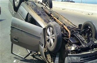 إصابة شخصين في انقلاب سيارة ملاكي بطريق الشيخ فضل برأس غارب