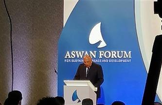 """شكرى بمنتدى """"أسوان 2"""": مصر تدعم قدرات الدول الإفريقية لمواجهة الإرهاب والجرائم العابرة للحدود"""