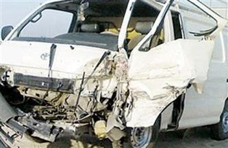 إصابة 9 أشخاص في انقلاب سيارة ميكروباص على الطريق الدولي في طنطا
