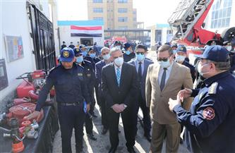 محافظ سوهاج ومدير الأمن يشهدان الاحتفال باليوم العالمي للحماية المدنية | صور