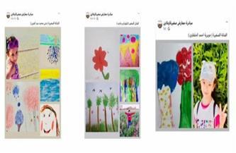 """التشكيلية وفاء ياديس تطلق معرض """"سلام الأرض"""" للأطفال أون لاين   صور"""