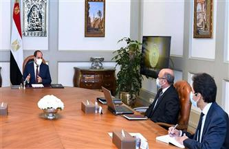 وزير العدل يستعرض أمام الرئيس السيسي تفاصيل منظومة حصر وتنمية الثروة العقارية