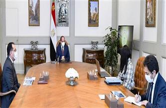 وزيرة التعاون الدولي تستعرض أمام الرئيس السيسي آفاق التعاون مع المنتدى الاقتصادي العالمي