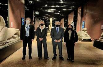 قنصل مصر في ميلانو يزور المتحف المصري في تورينو  صور