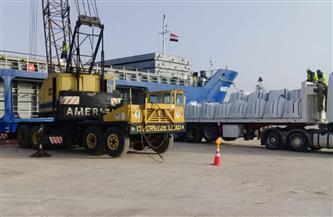 تصدير 8 آلاف طن أسمنت سيناوي من ميناء العريش إلى روسيا الاتحادية ولبنان| صور