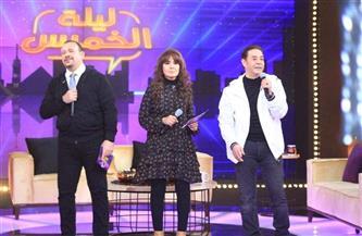 مدحت صالح وهشام عباس وحنان في «ليلة الخميس» | صور