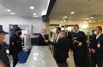 وفد من السفارة الألمانية يزور مطار برج العرب الدولي |صور
