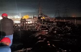 السيطرة على انفجار سيارة محملة بأسطوانات البوتاجاز بأسيوط| صور