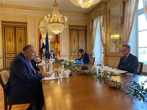 وزير الخارجية يلتقي نظيره الألماني على هامش زيارته الحالية لباريس